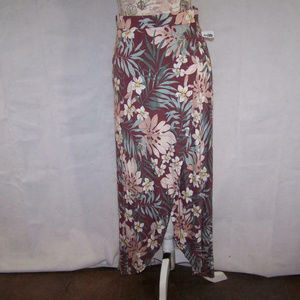 Charlotte Russe Maxi Skirt M Tulip Front Stretch